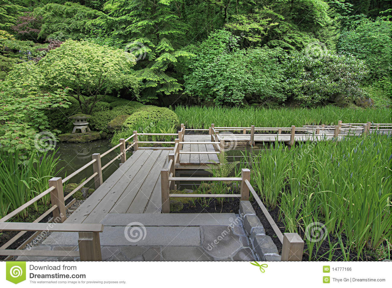 Japanese garden bridge over pond stock photo image 14777166 for Fish pond bridges