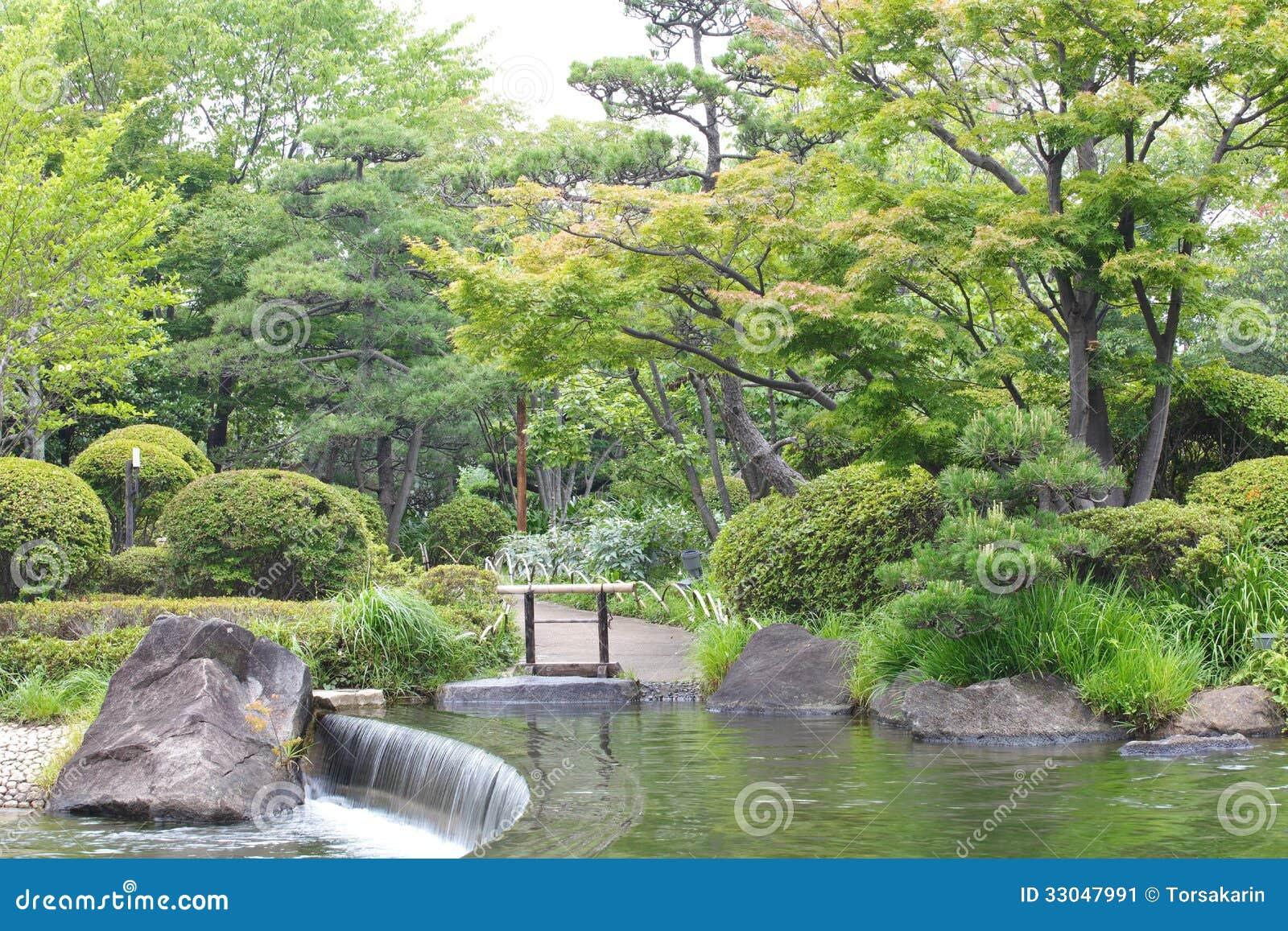 Japanese garden stock image image 33047991 for Creating a small japanese garden