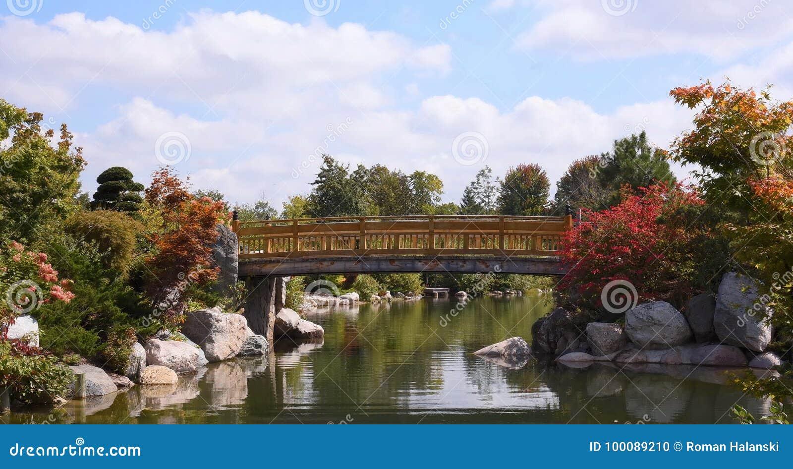 Japanese Garden In Grand Rapids, MI Stock Photo - Image of view ...