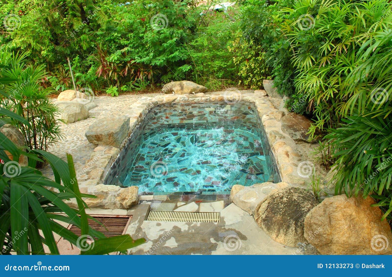 Japanese Garden Hot Spring Stock Photos - Image: 12133273