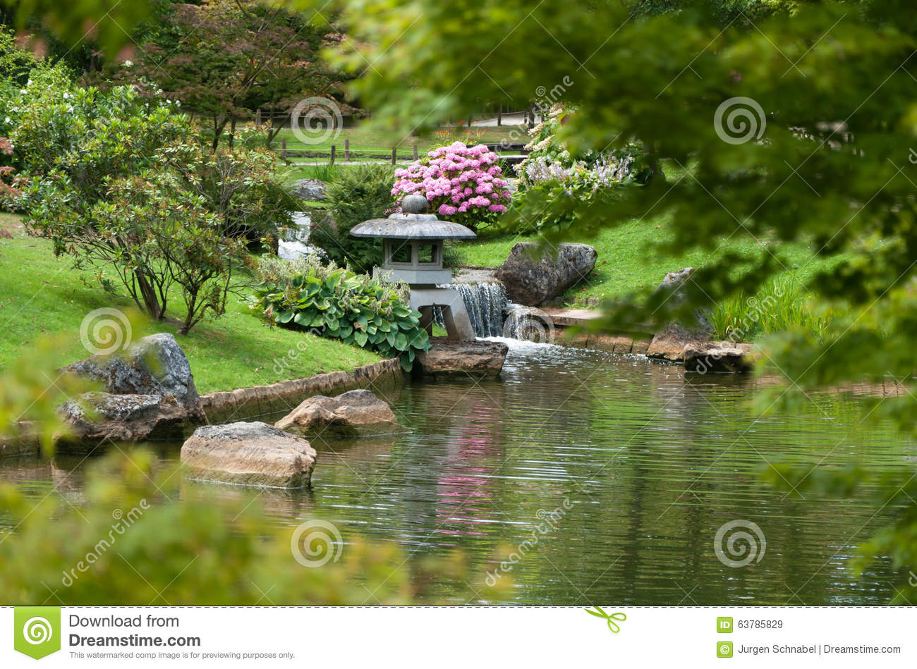 Japanese garden landscape stock image image of small for Japanese garden plants and trees