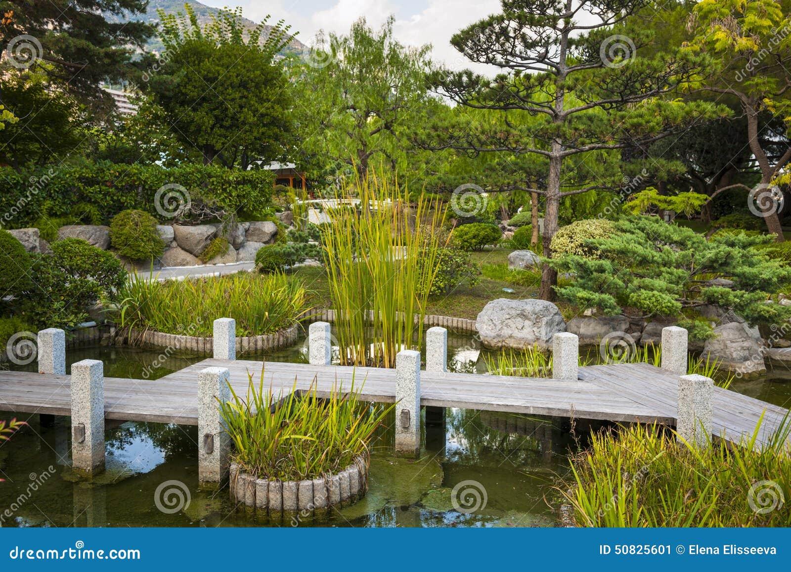 Japanese Garden In Monte Carlo Editorial Photo