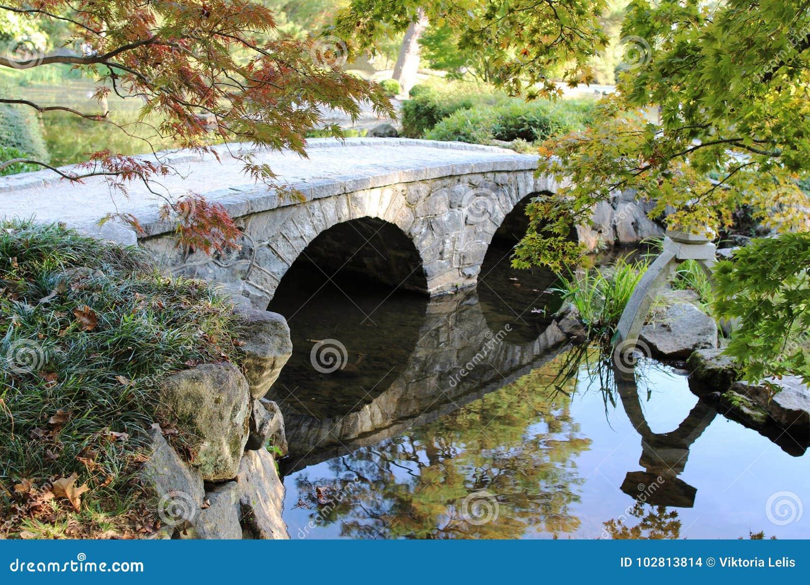 Download A Japanese Garden Stock Photo. Image Of Bridge, Garden   102813814