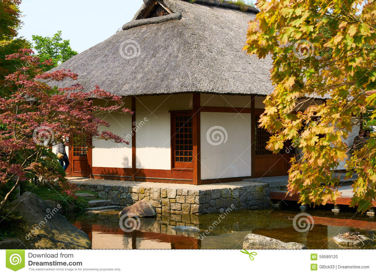 Japanese Garden At Planten Un Blomen Park. Hamburg Editorial Image ...