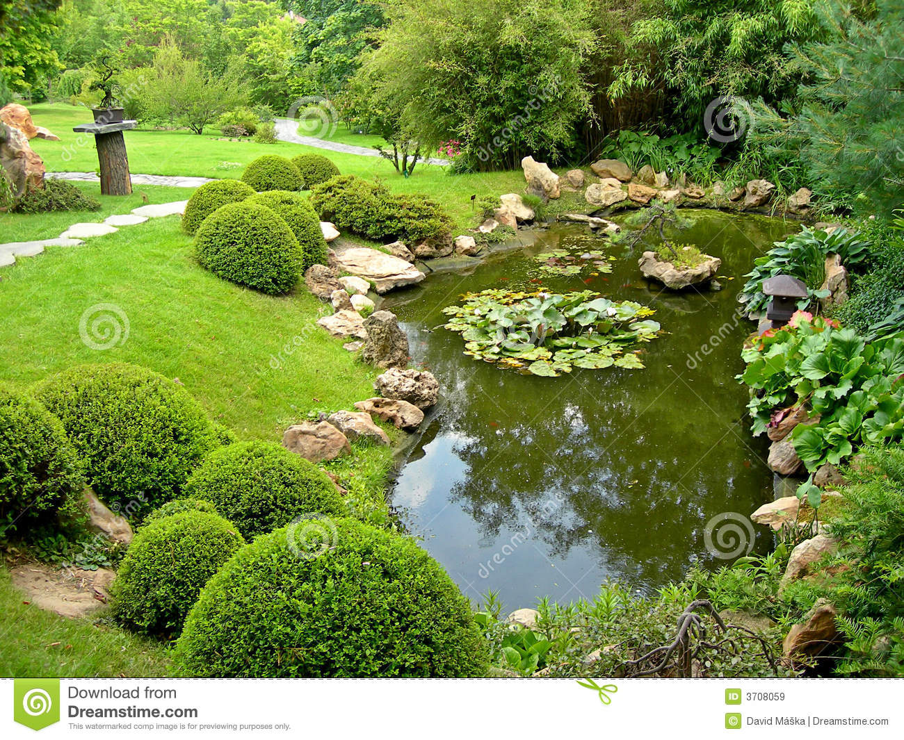 Japanese garden and pond royalty free stock images image for Japanese garden pool