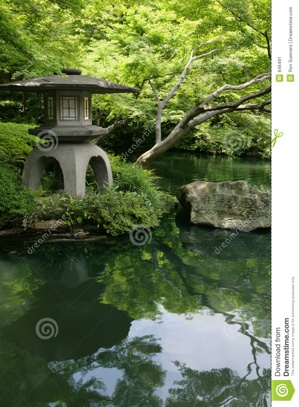 Japanese Garden And Pond Stock Image - Image: 846491