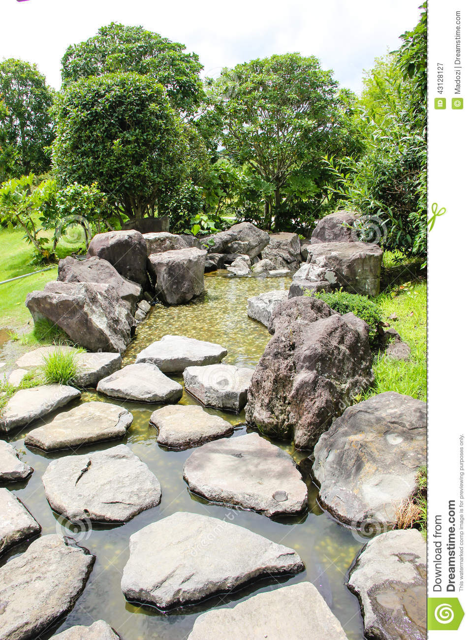Japanese garden stock photo image 43128127 for Japanese style pond