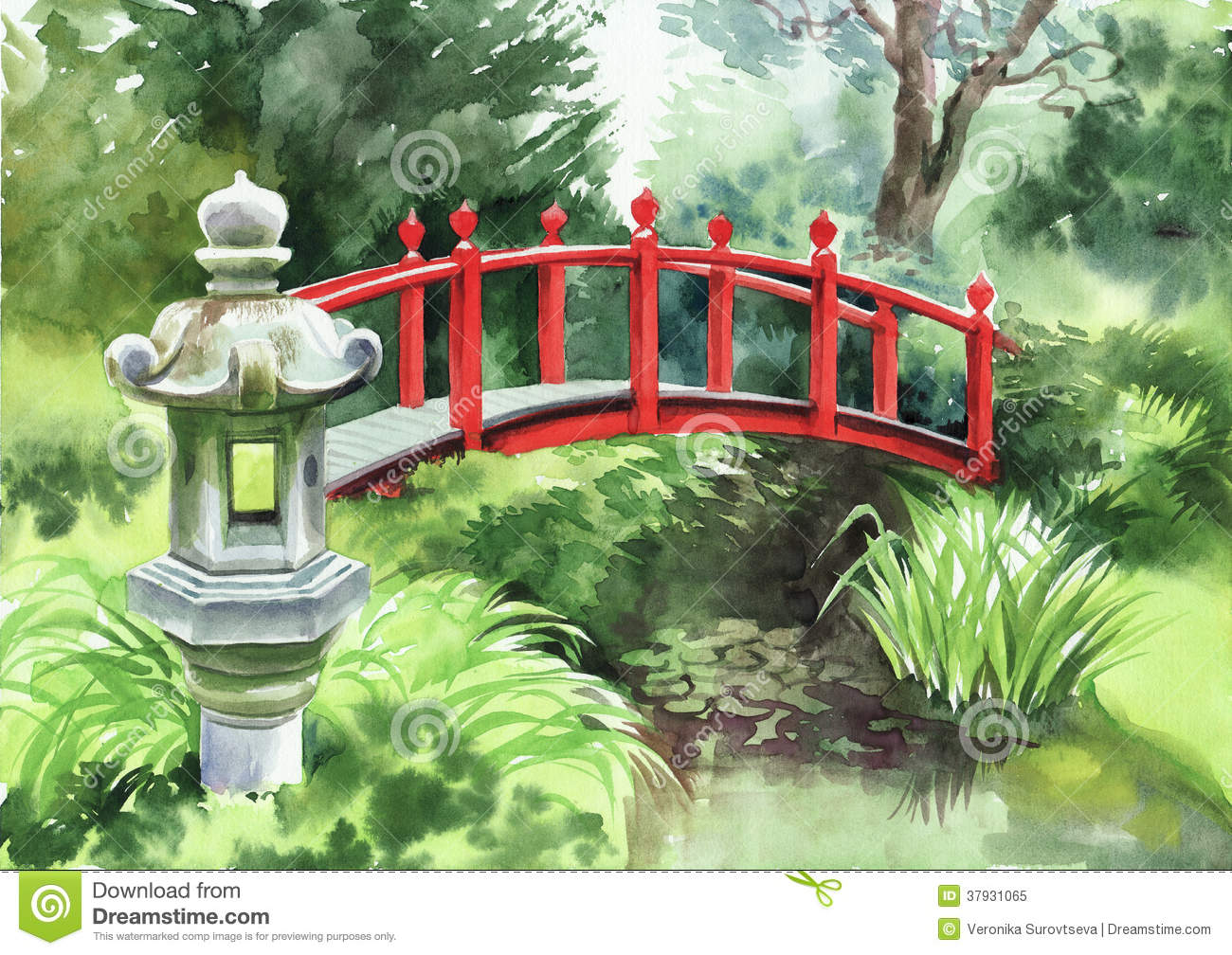 bridge garden japanese