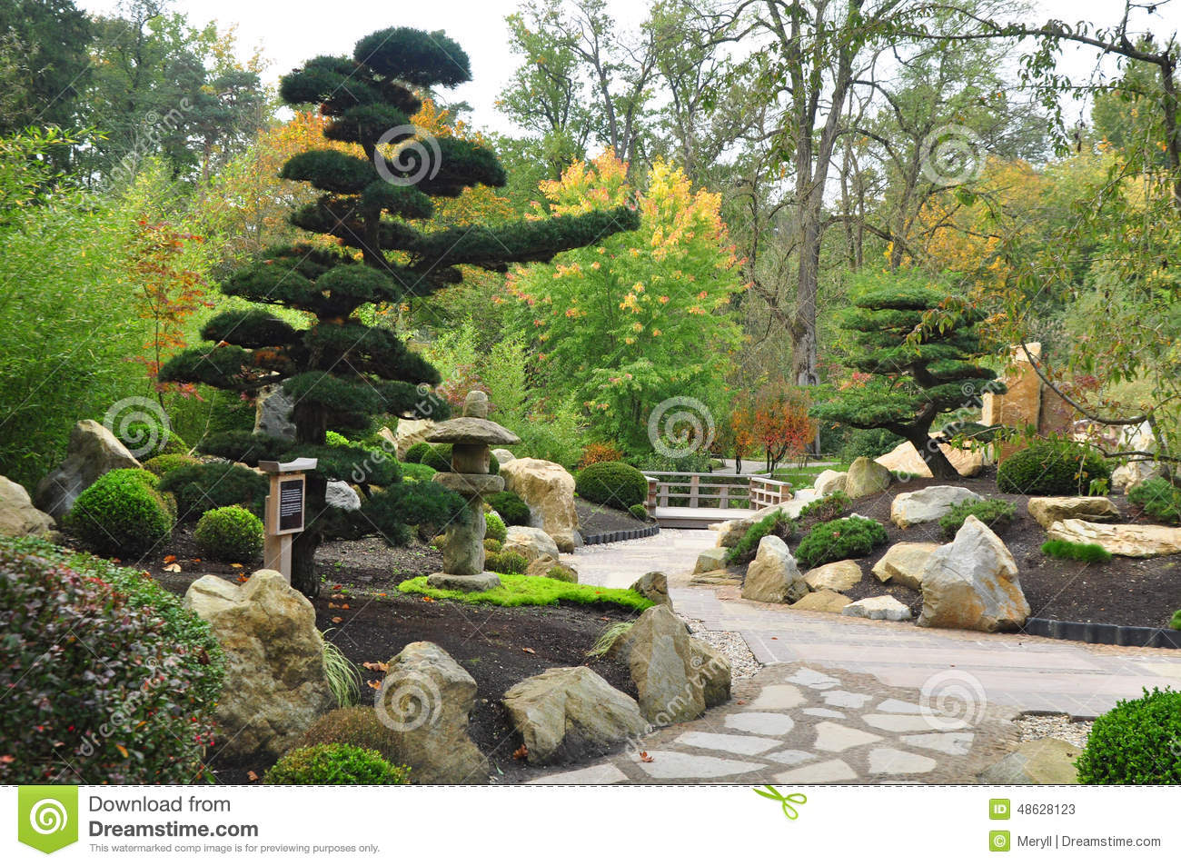 Japanese Garden Stock Image Image Of Japan Landscaping 48628123