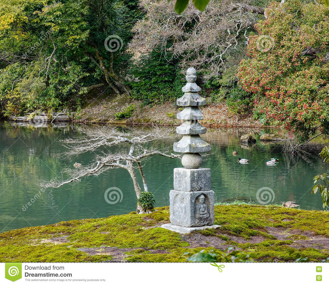 japanese garden at temple kyoto japan royalty free stock. Black Bedroom Furniture Sets. Home Design Ideas