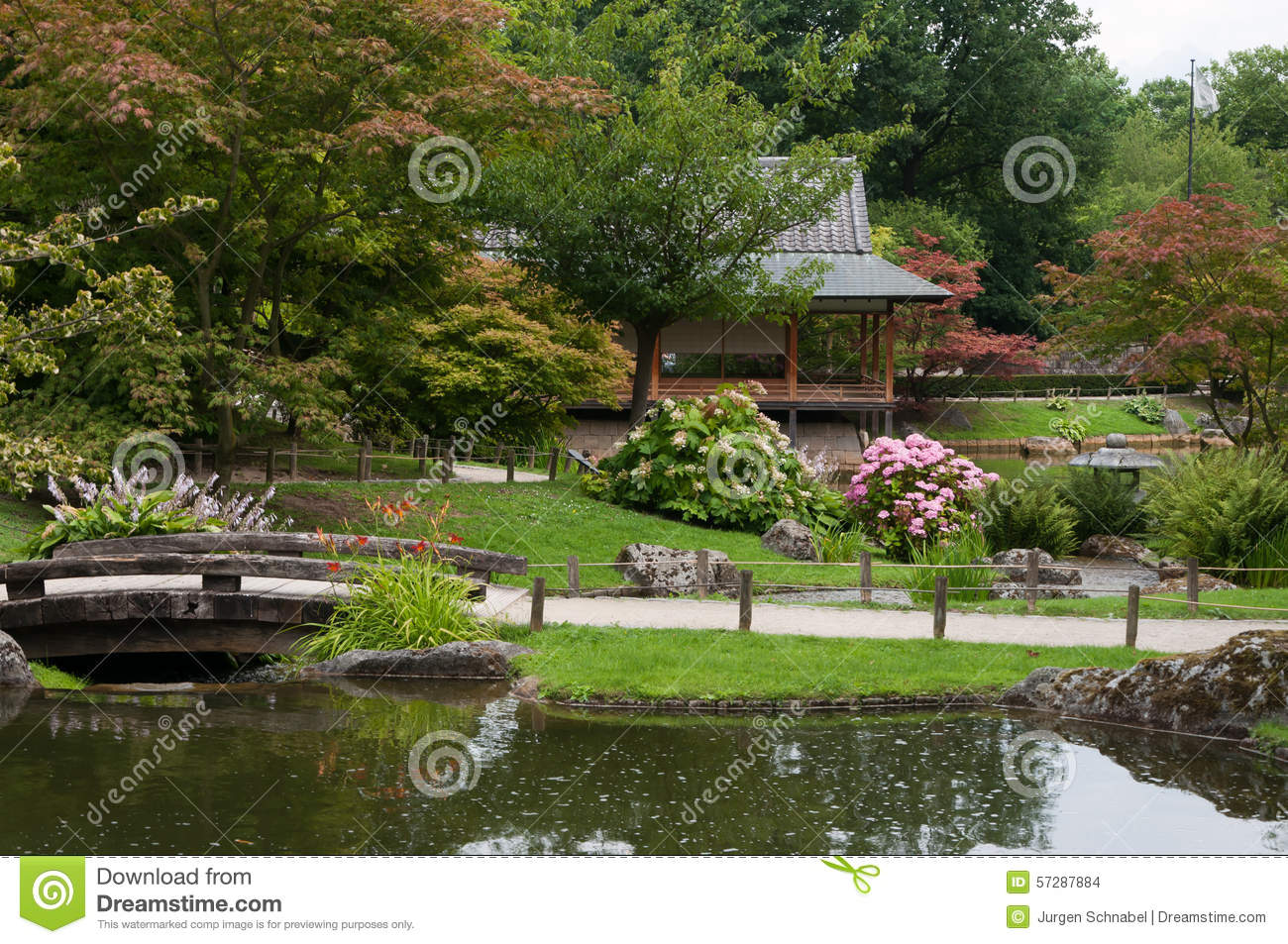 Japanese Garden Stock Photo Image Of Nature Small Path