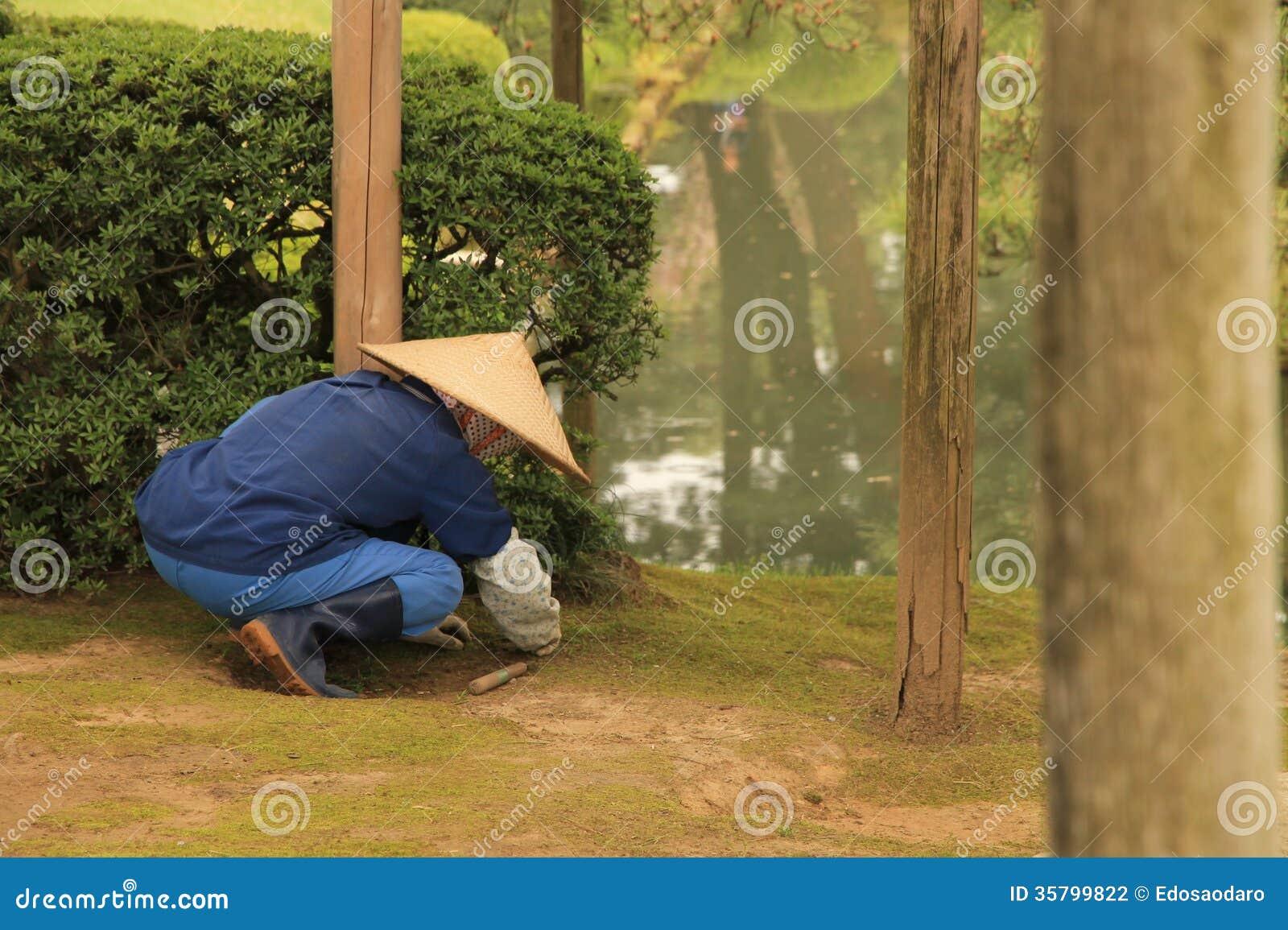 Nice Japanese Gardener #1: Japanese Gardener Editorial Photography