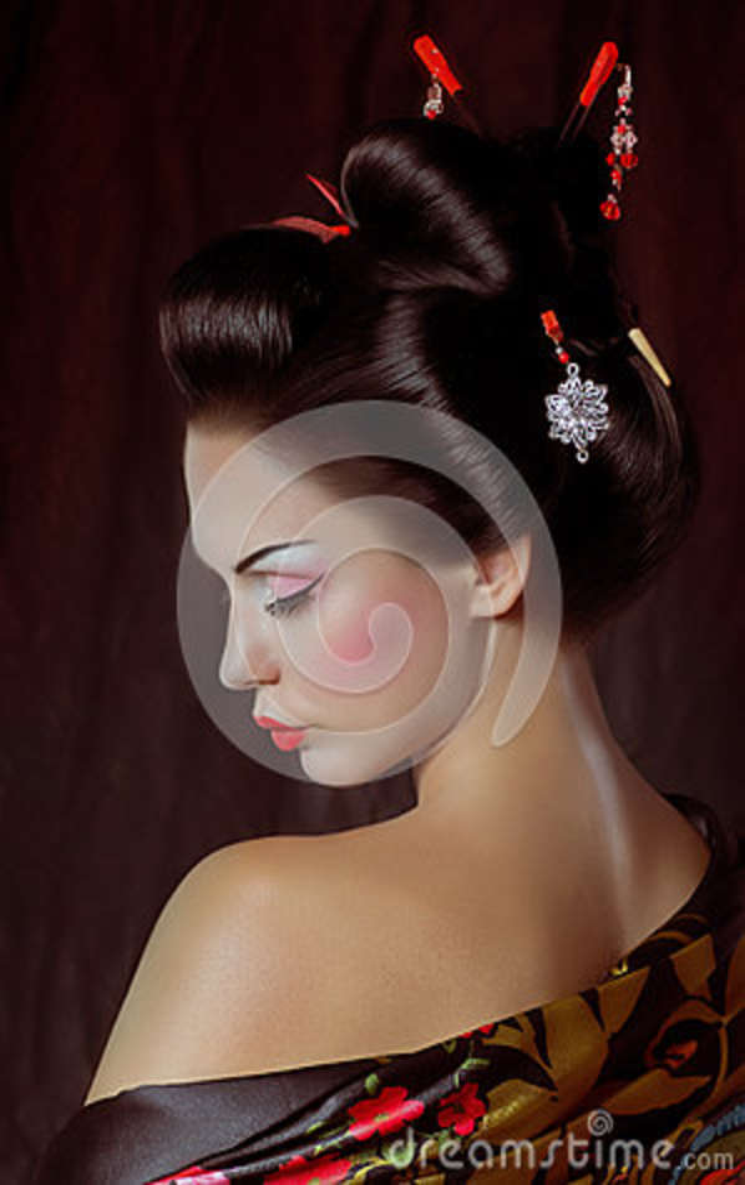Japanese Geisha Woman Royalty Free Stock Photo