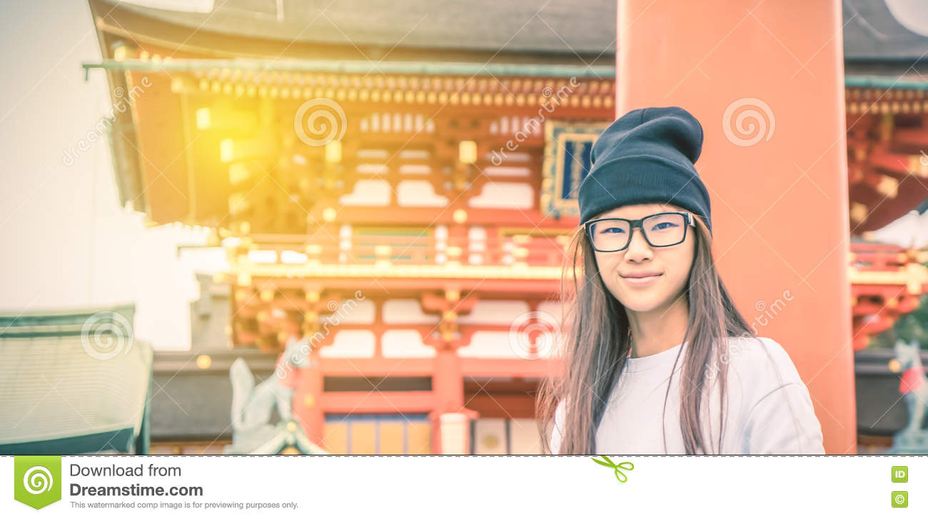 Not japanese girl with glasses