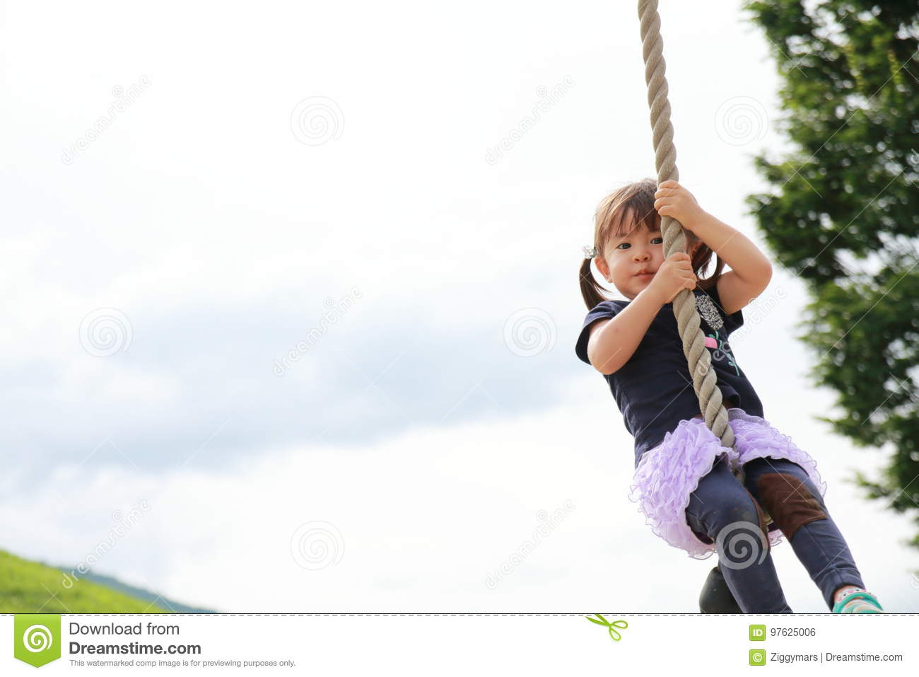 Japanese Girl Playing With Flying Fox Stock Photo - Image of