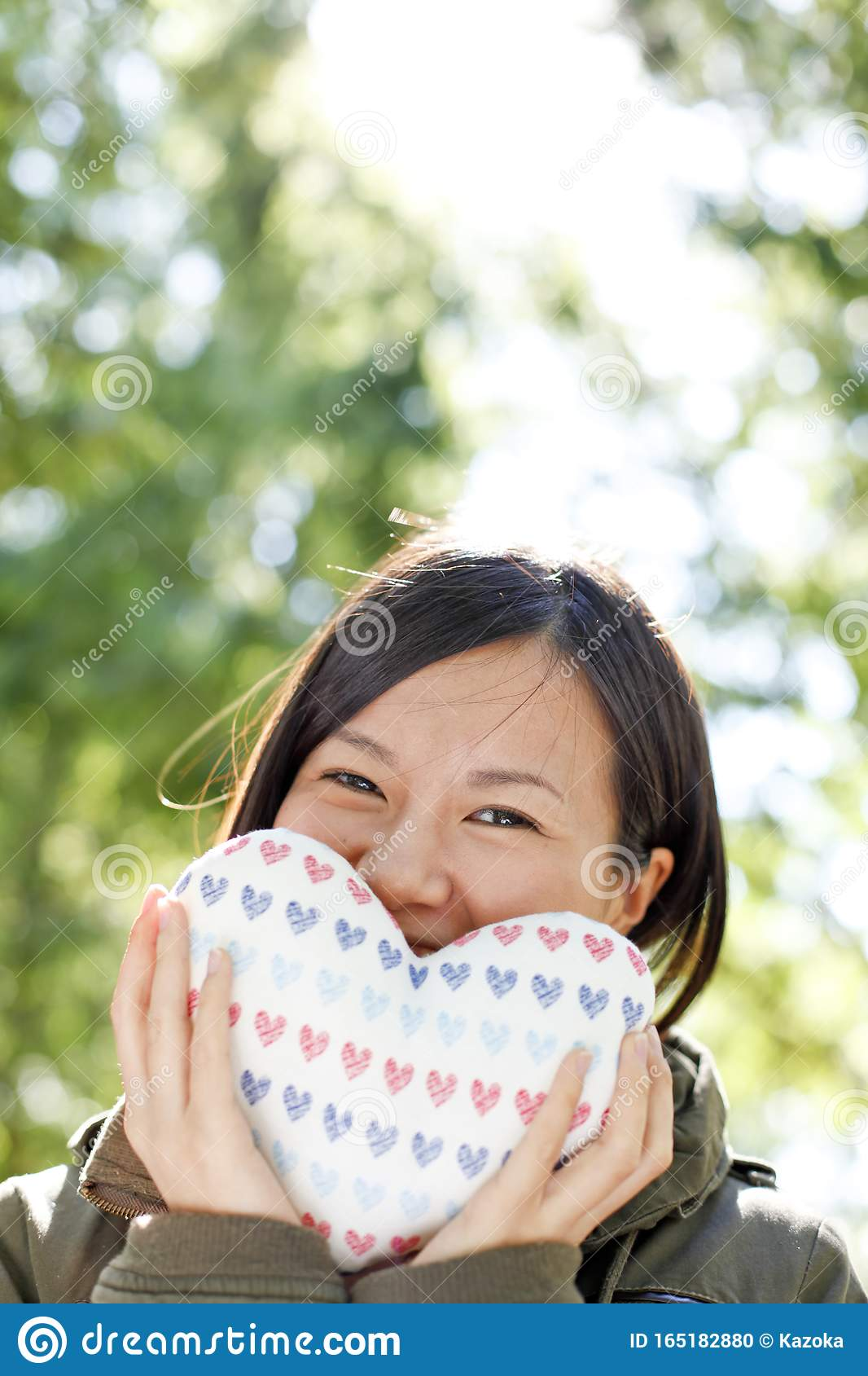 Japanese Girl`s First Love Image Stock Photo - Image of