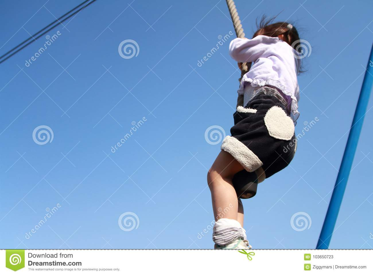 Japanese Girl Playing With Flying Fox Stock Image - Image of