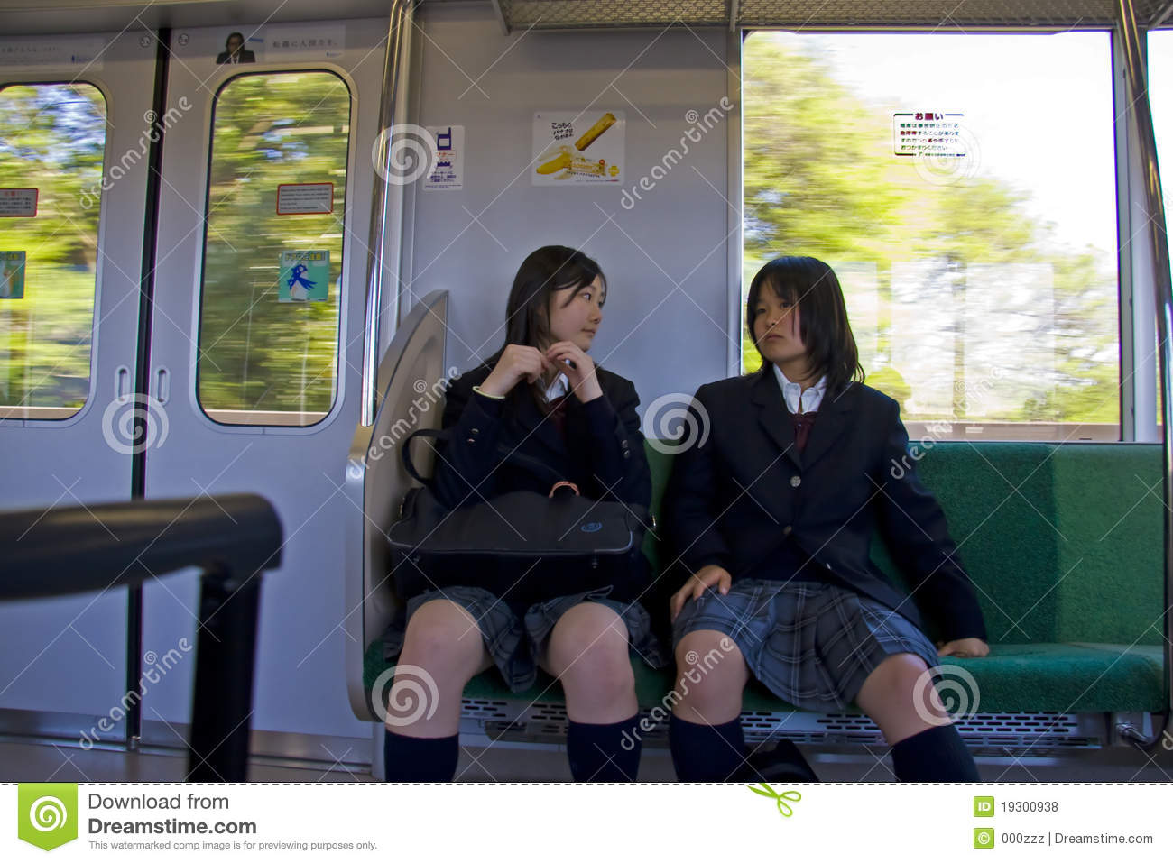 Train girls on japanese