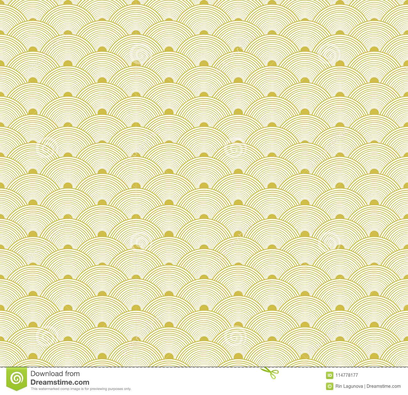 Japanese Golden Seamless Pattern, VECTOR Background, Traditional Asia Background.