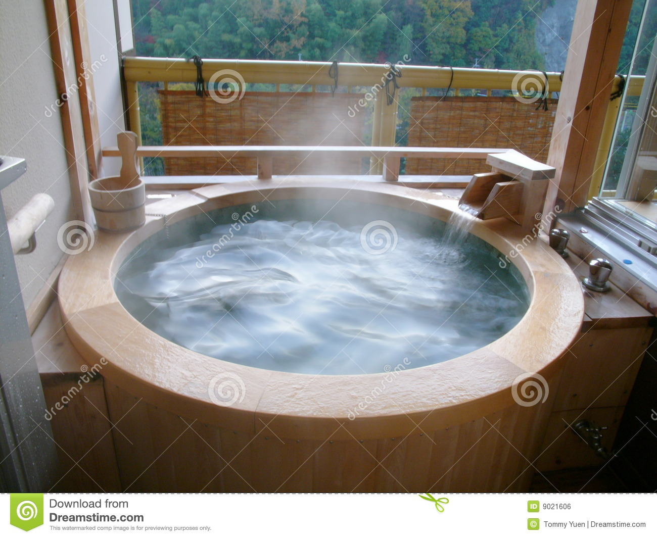 Japanese Hot Springs stock photo. Image of good, hotel - 9021606