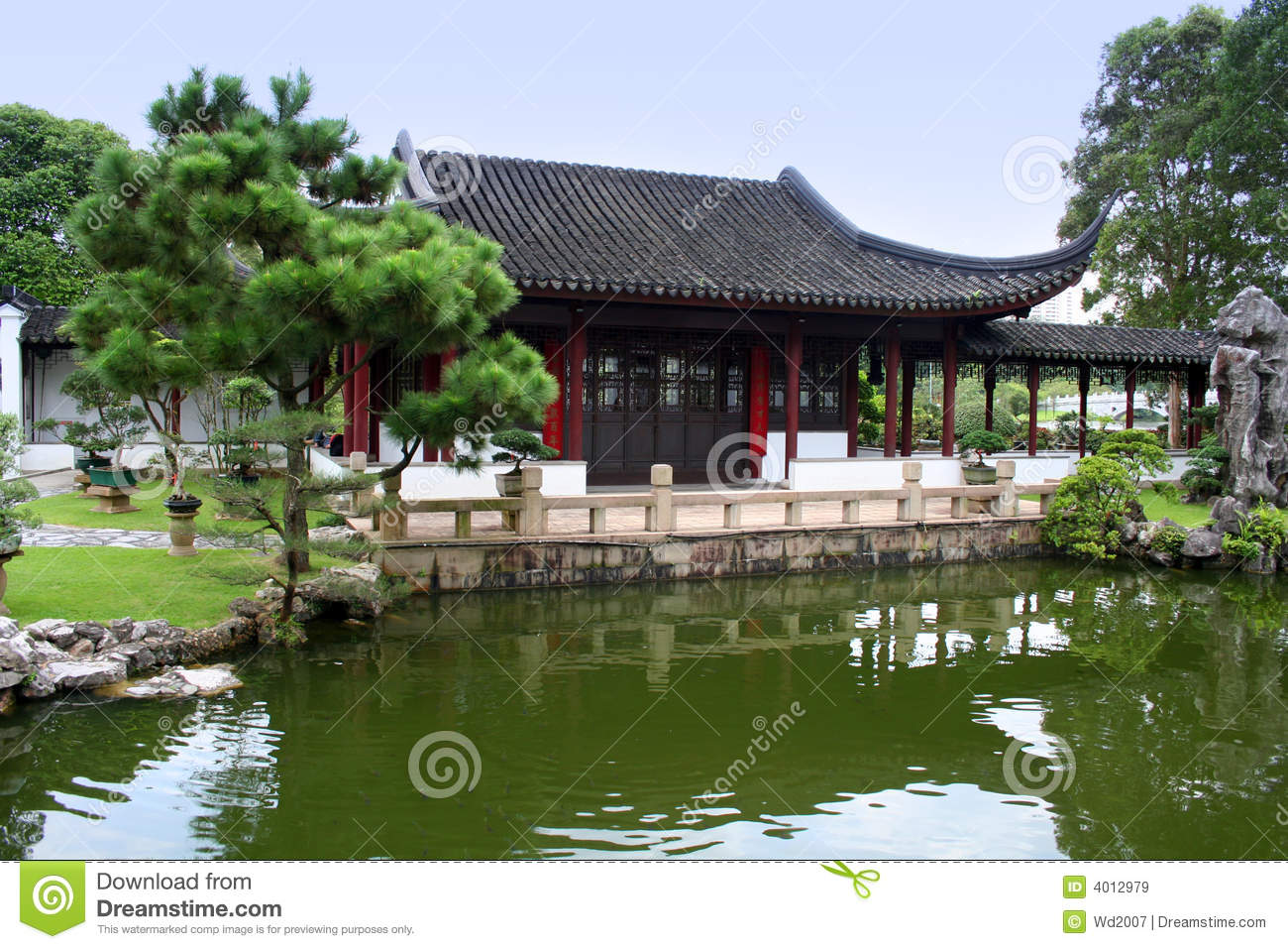 Japanese house and garden royalty free stock images for Japanese house garden
