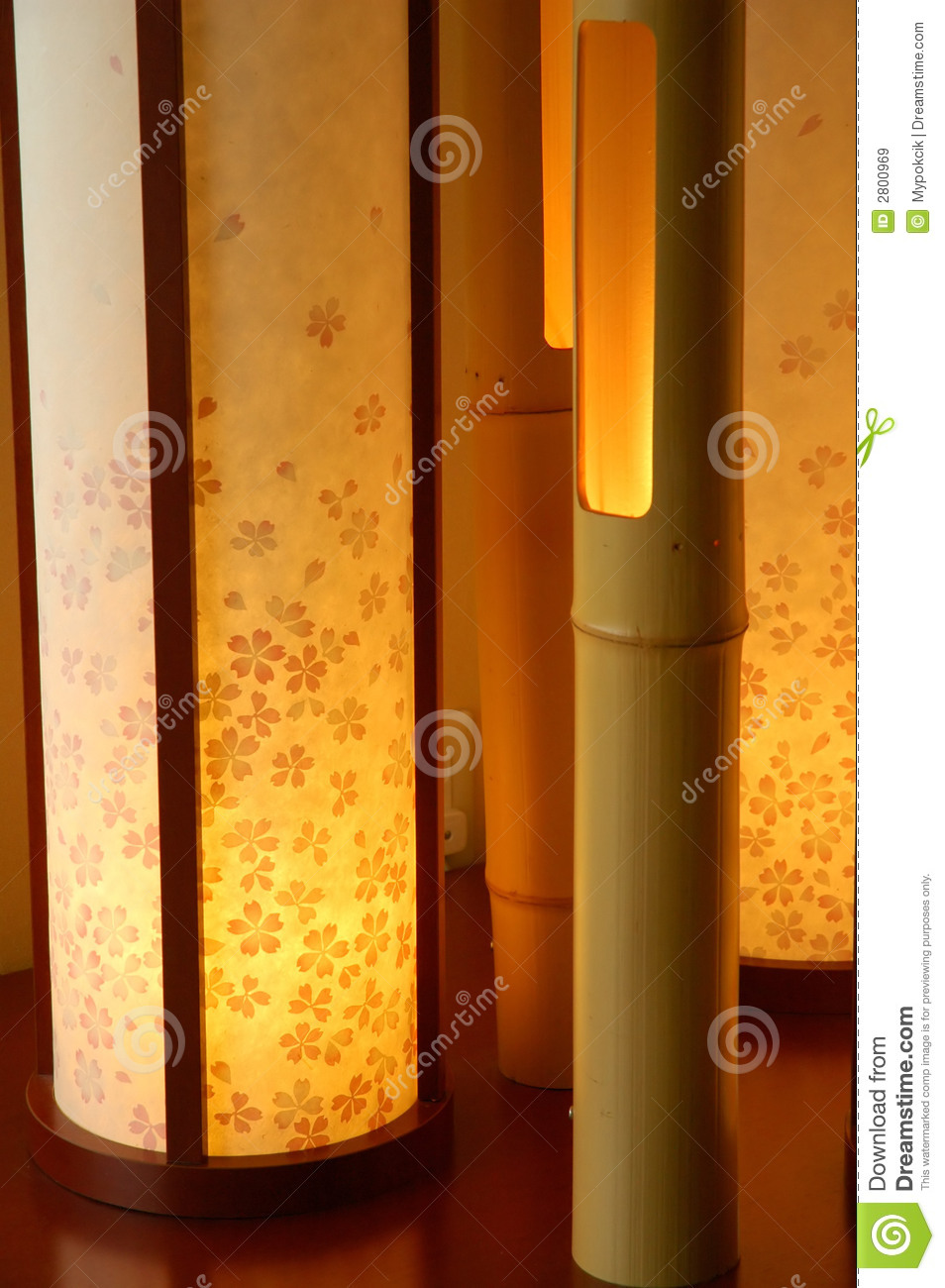 Japanese Interior Lamp Royalty Free Stock Images Image