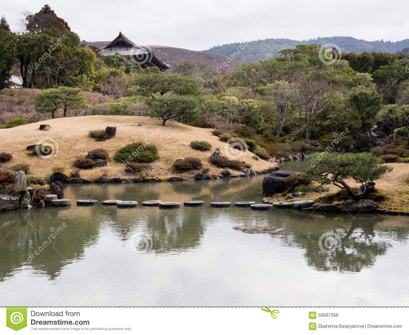 Japanese Pond Garden Landscape Stock Photo Cartoondealer