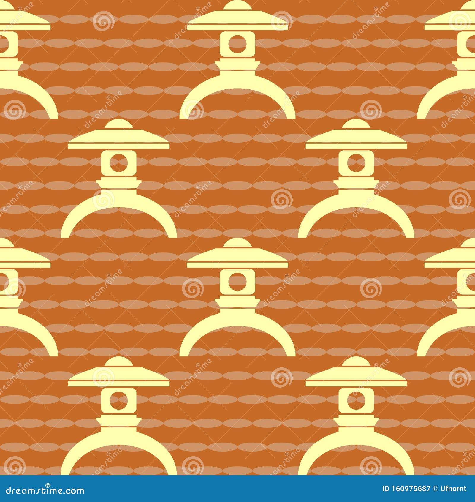Japanese Lantern Pattern Stock Vector Illustration Of Festival 160975687