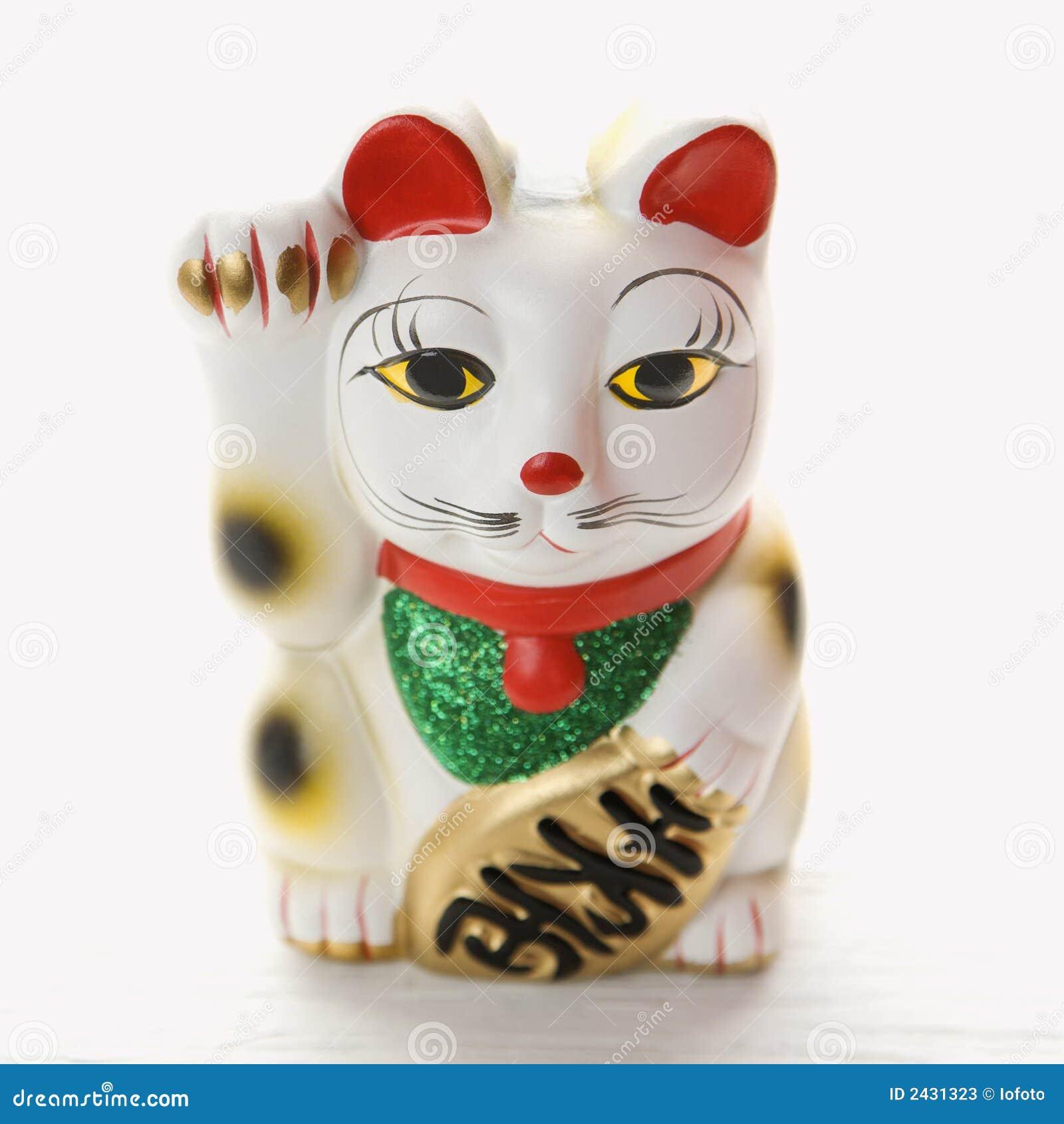 Japanese lucky cat figurine.
