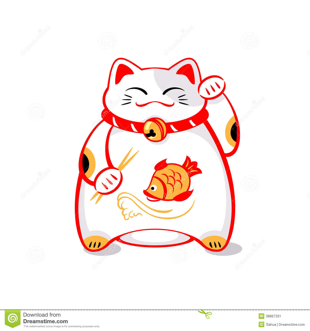 Japanese Lucky Cat Stock Vector Image 38867331