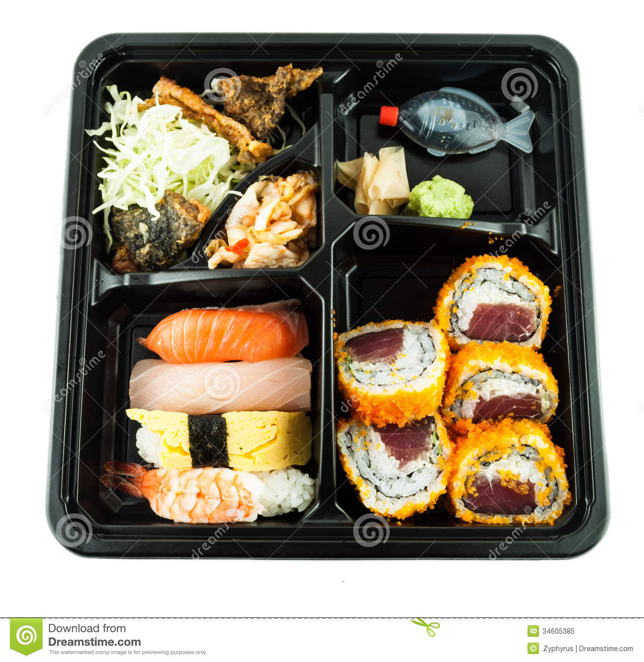 japanese meal in a box or lunch box royalty free stock photo image 34605385. Black Bedroom Furniture Sets. Home Design Ideas