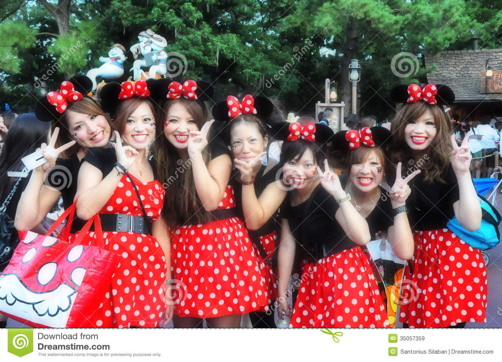 Japanese Micky Girl Editorial Stock Image Image 35057359