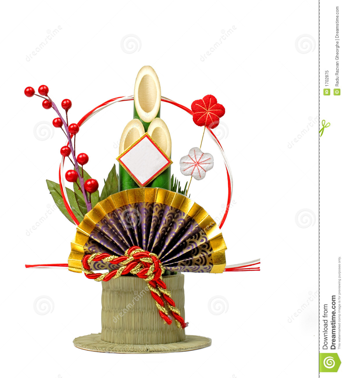 Japanese new year decoration royalty free stock photo image 1702875 for Decoration image