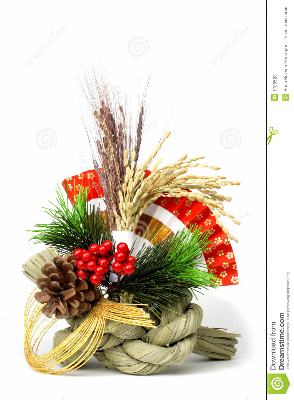 Japanese new year decoration stock image image 1709523 for Photo decoration