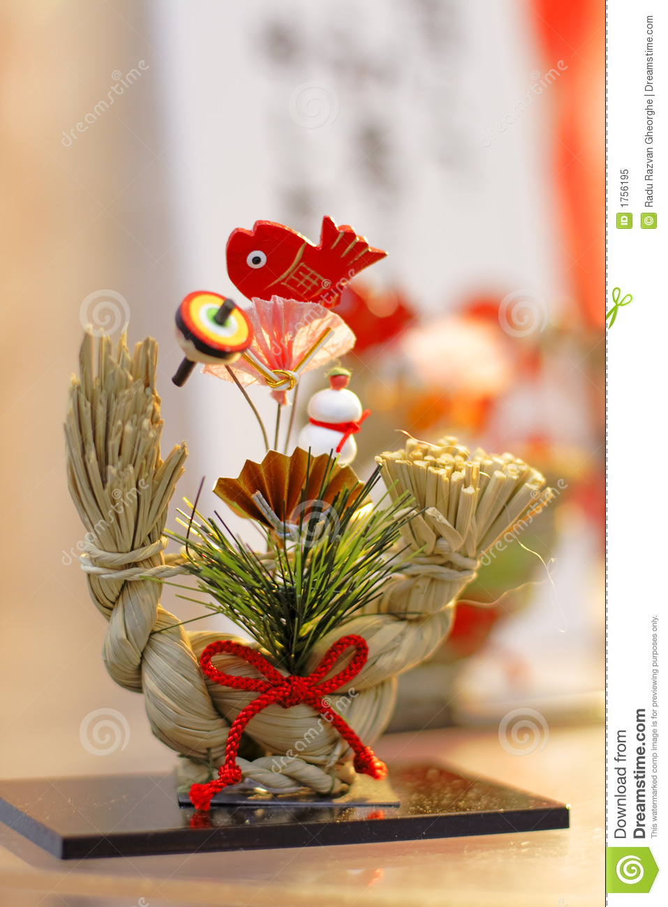 japanese new year decoration royalty free stock photo - image: 1756195