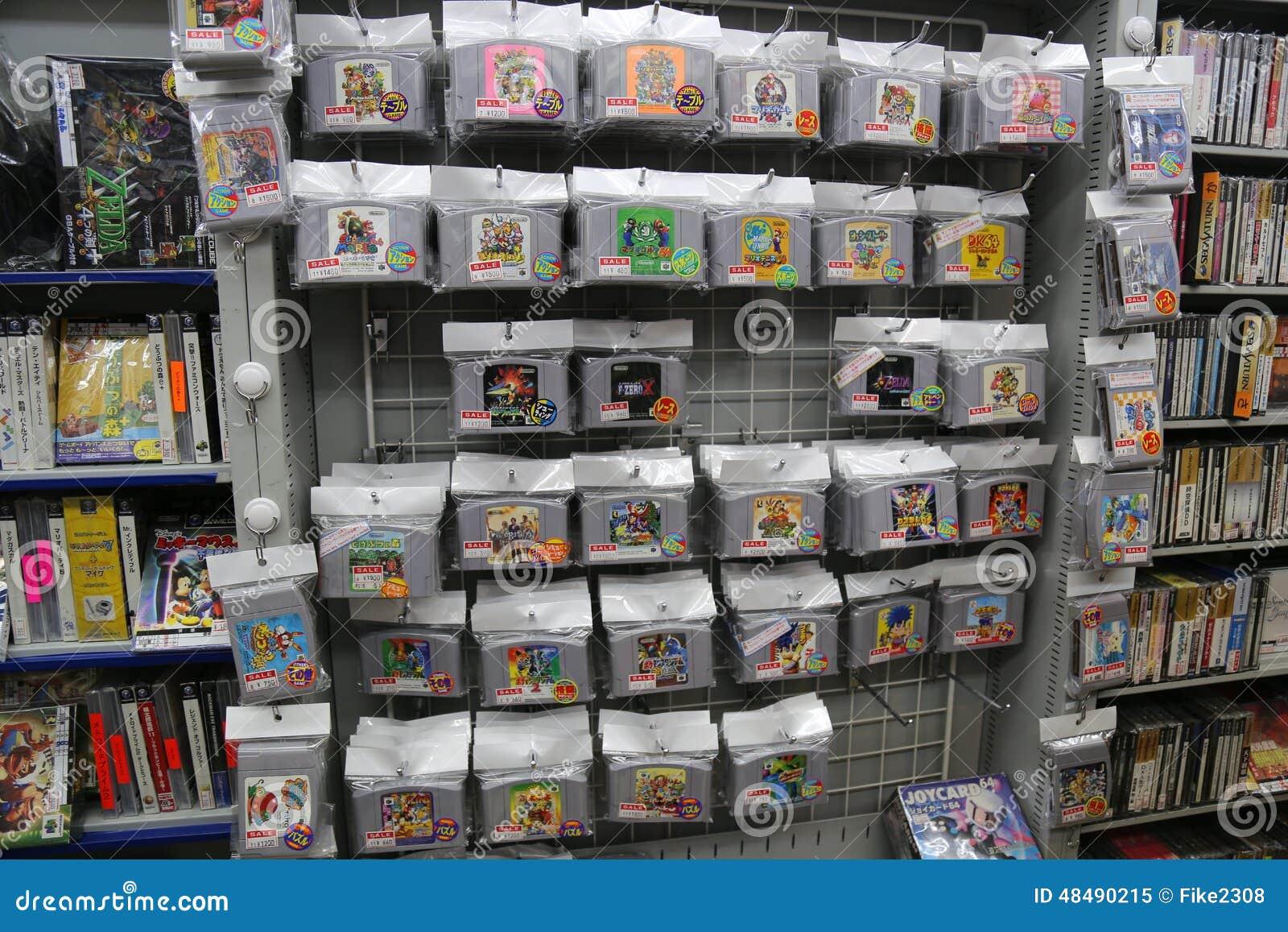 Japanese Nintendo 64 Games editorial image  Image of