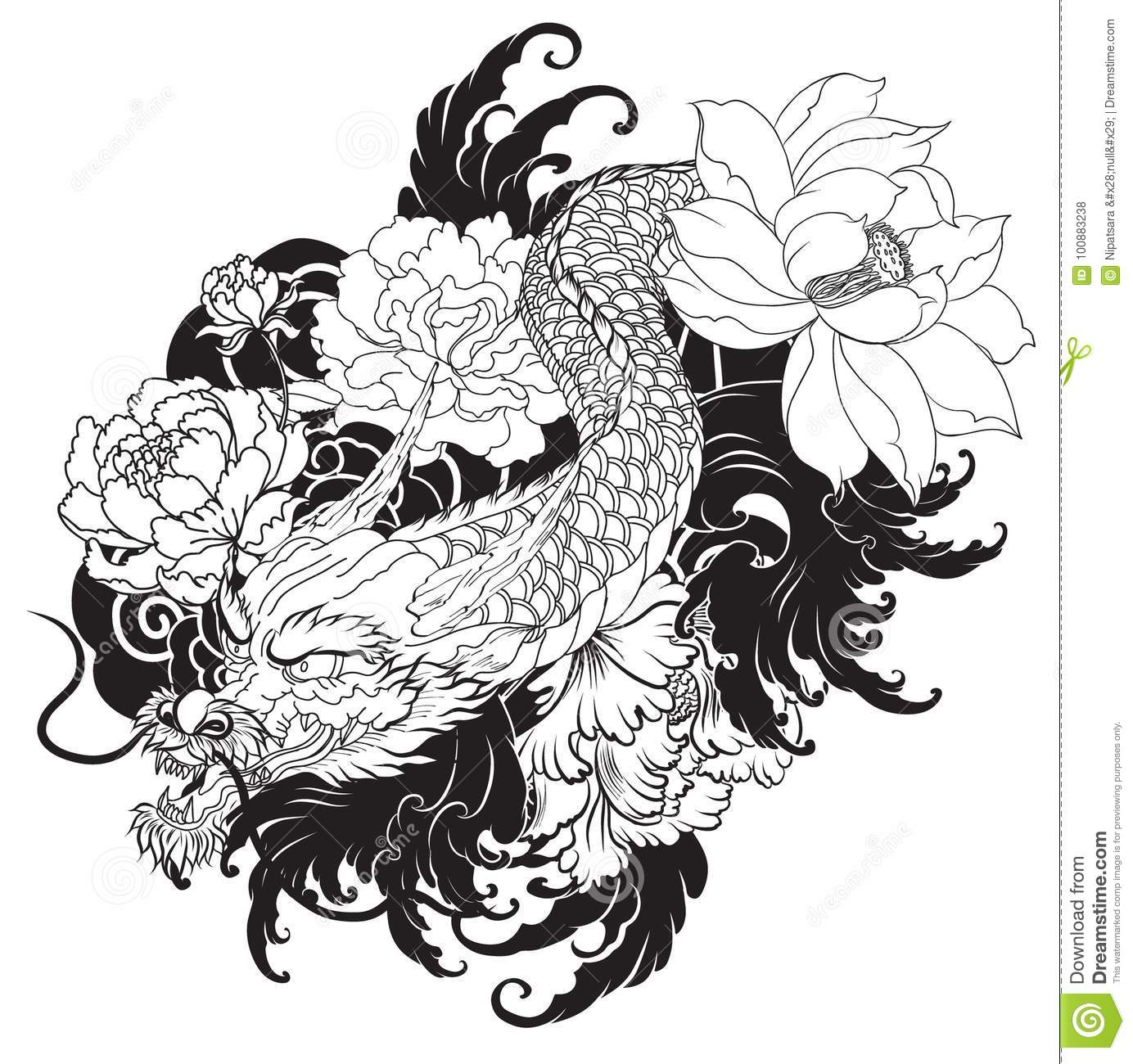 Japanese old dragon tattoo for arm stock illustration japanese old dragon tattoo for arm china abstract izmirmasajfo Images