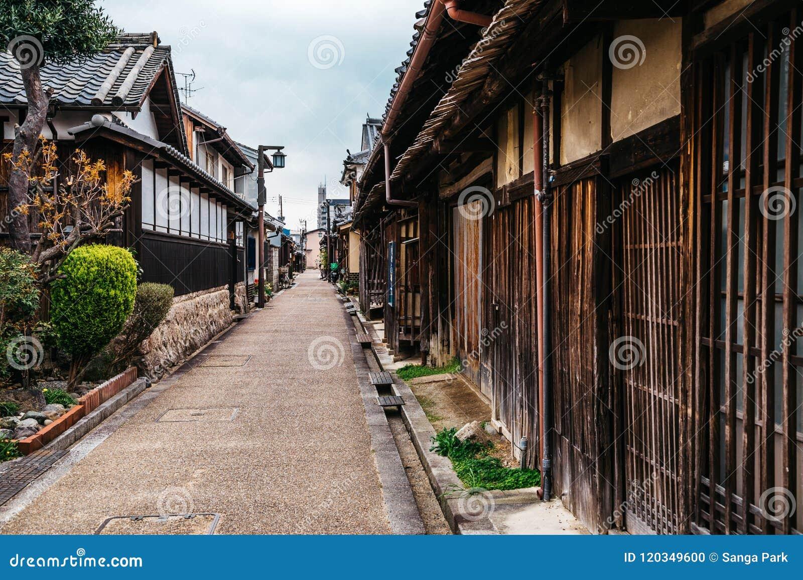 Japanese old town Imaicho in Nara, Japan