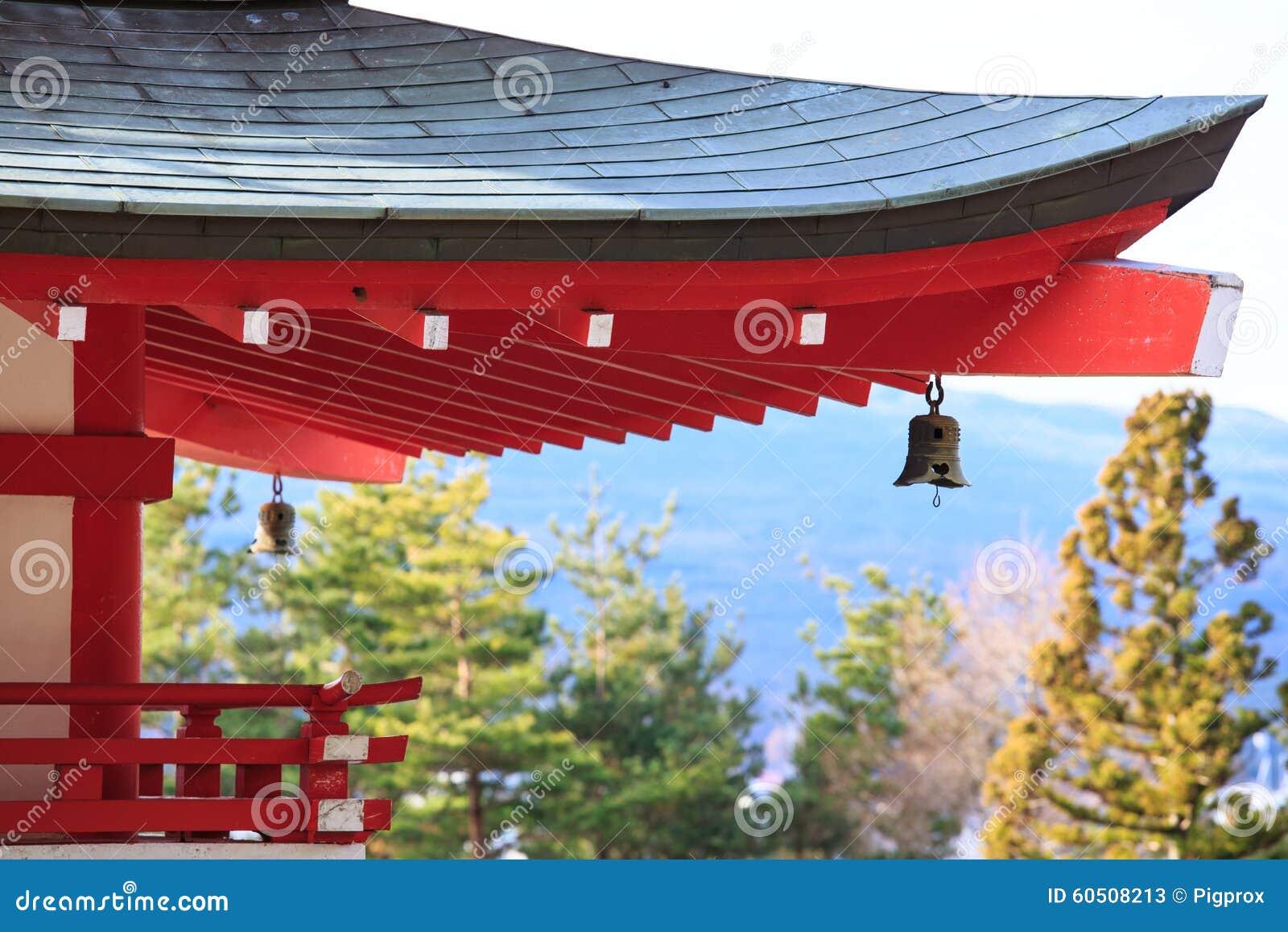 Japanese Pagoda Roof And Landscape From Chureito Pagada At Kawag Stock Image Image Of Wood Kiyomizu 60508213