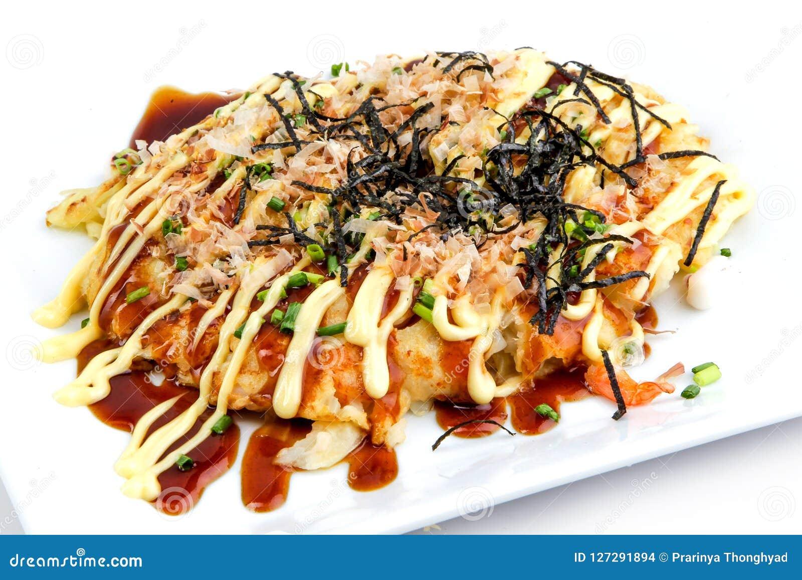 Japanese Pizza Style Okonomiyaki Kansai Stock Photo Image Of Meal Gourmet 127291894