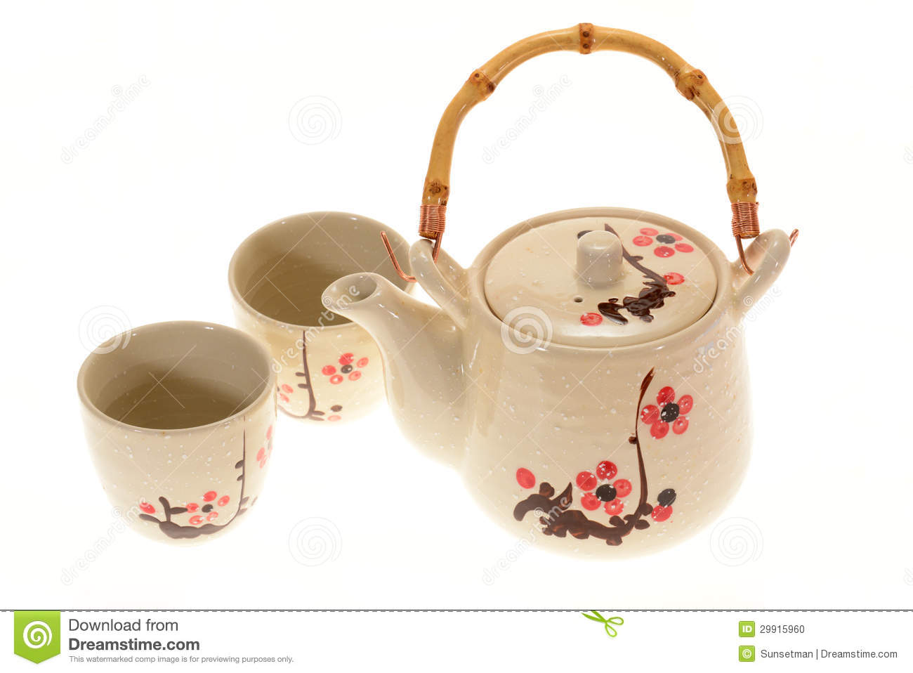 Japanese Teapot Set Stock Photo Image Of Healthy Kitchen