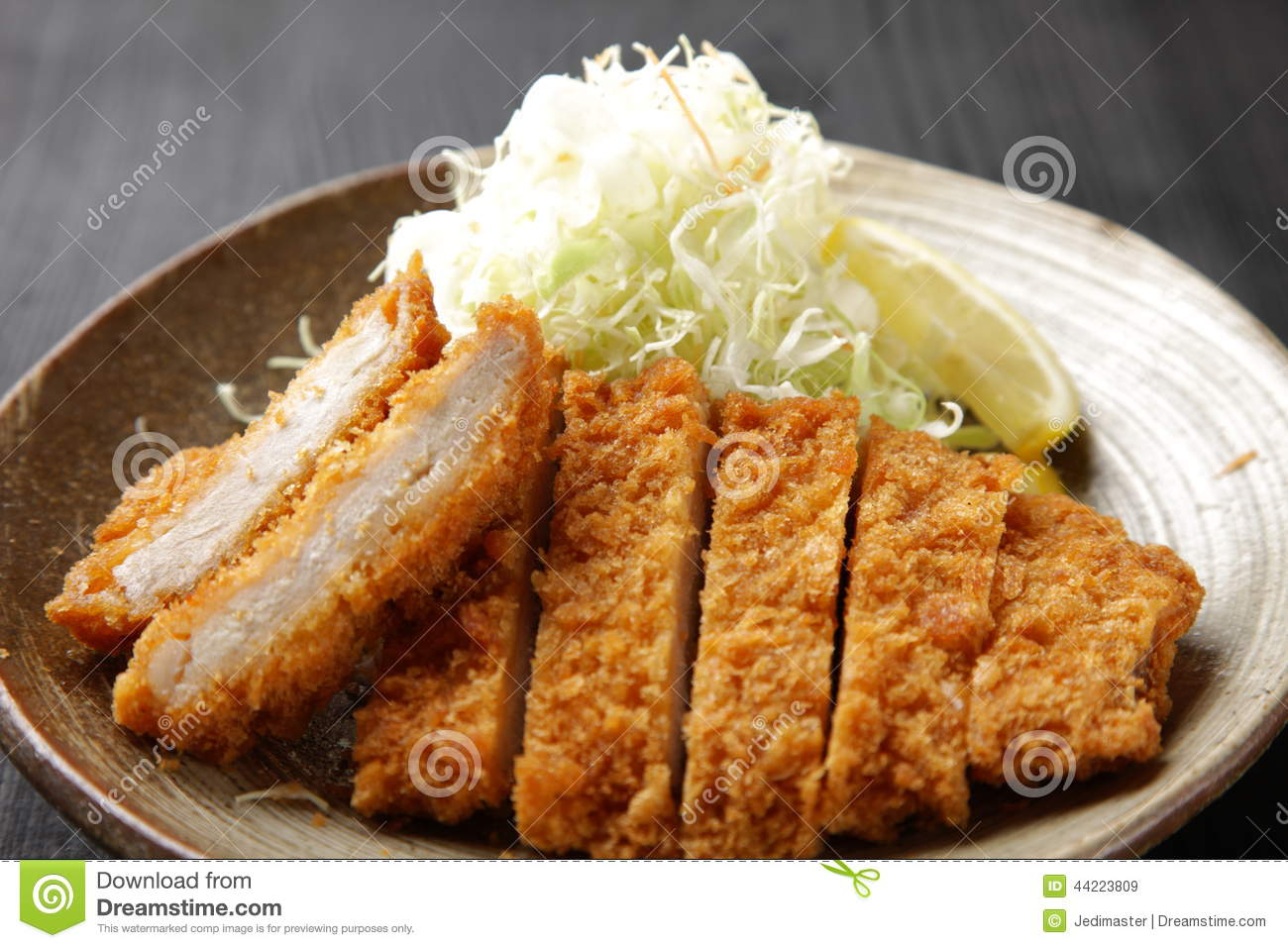 Japanese Pork Cutlet Tonkatsu Stock Photo - Image: 44223809
