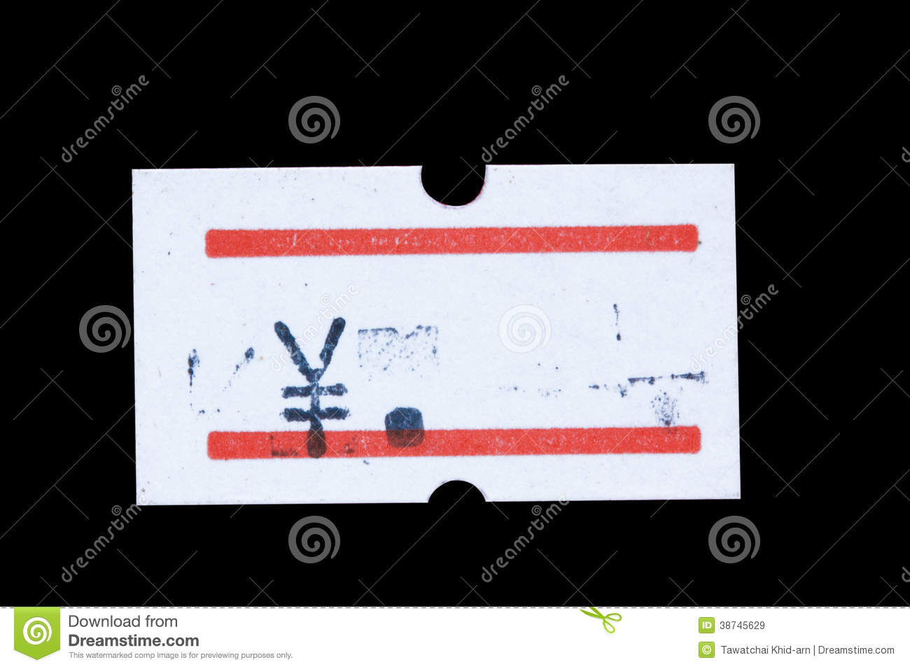 Tag Japan: Japanese Price Tag Stock Image. Image Of Grocery, Discount