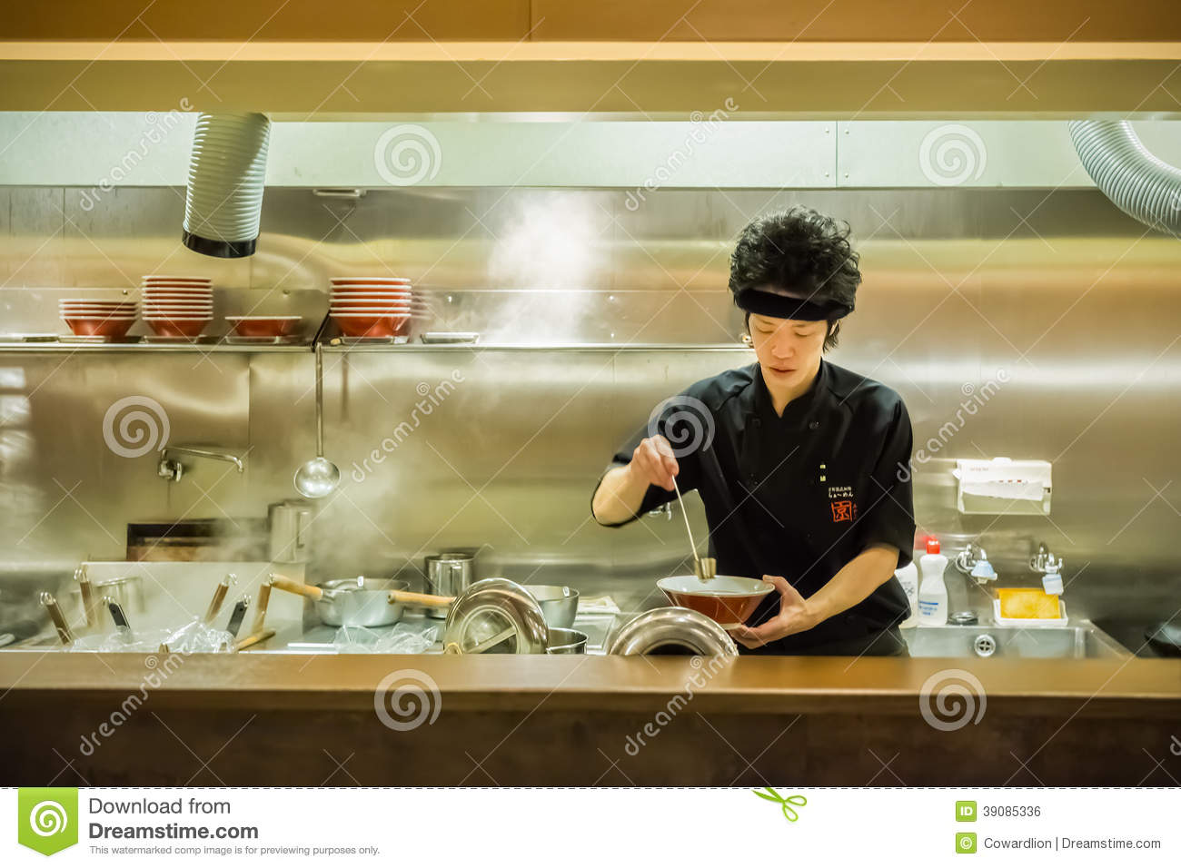 Japanese Ramen Chef Editorial Photo Image Of Cooking 39085336