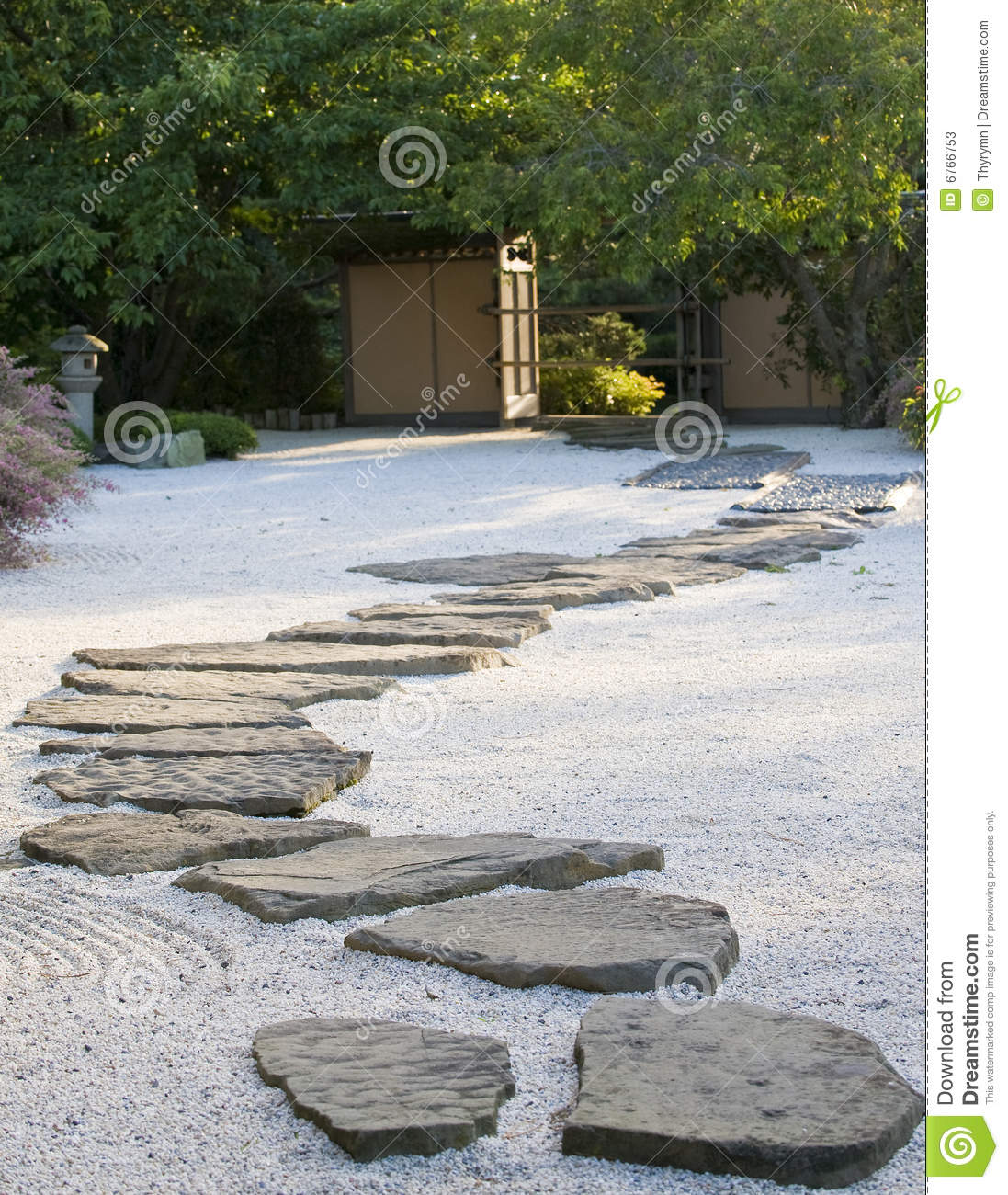 Japanese Rock Garden Stock Image Image Of Nature Footpath 6766753