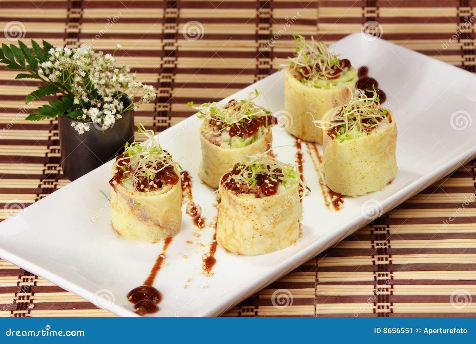 Japanese Rolled Omelet-Tamagoyaki(dashimaki) Stock Image - Image ...