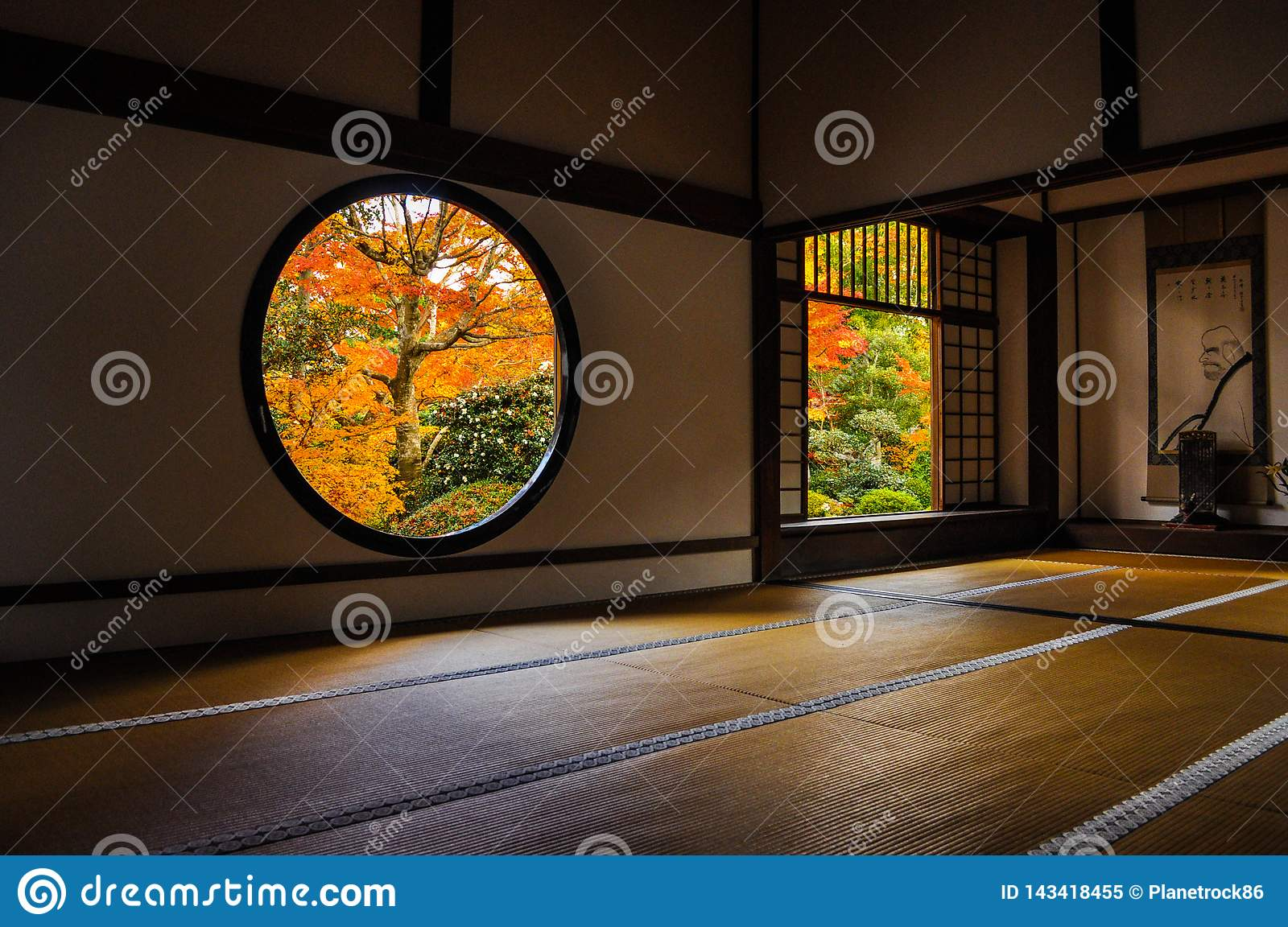 Japanese room in an old temple