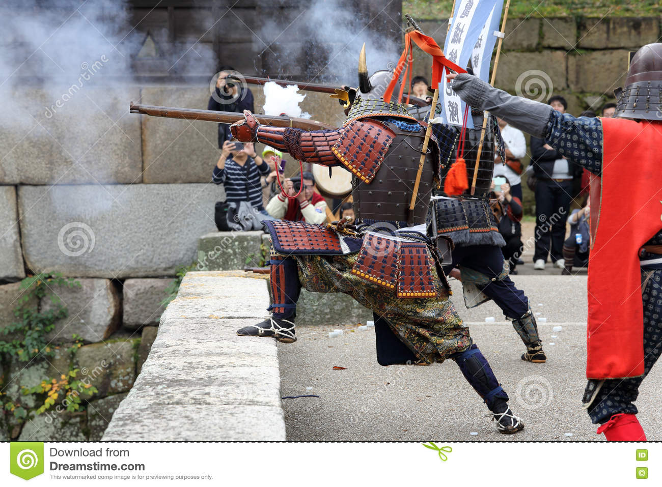 Japanese Samurai Clothing Uniform With Old Rifle Editorial Photography Image Of Fighter Japan 81223112