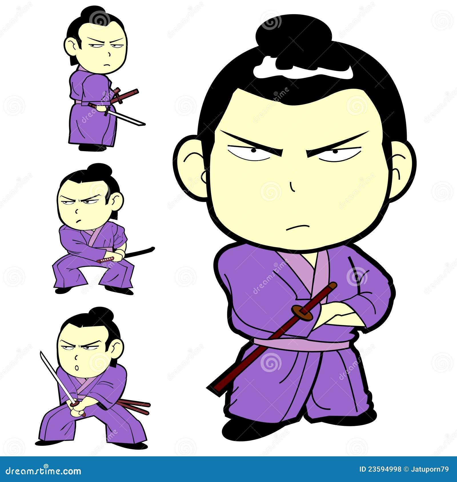 Japanese Samurai Warrior Kids With Sword Royalty Free Stock Photos ...