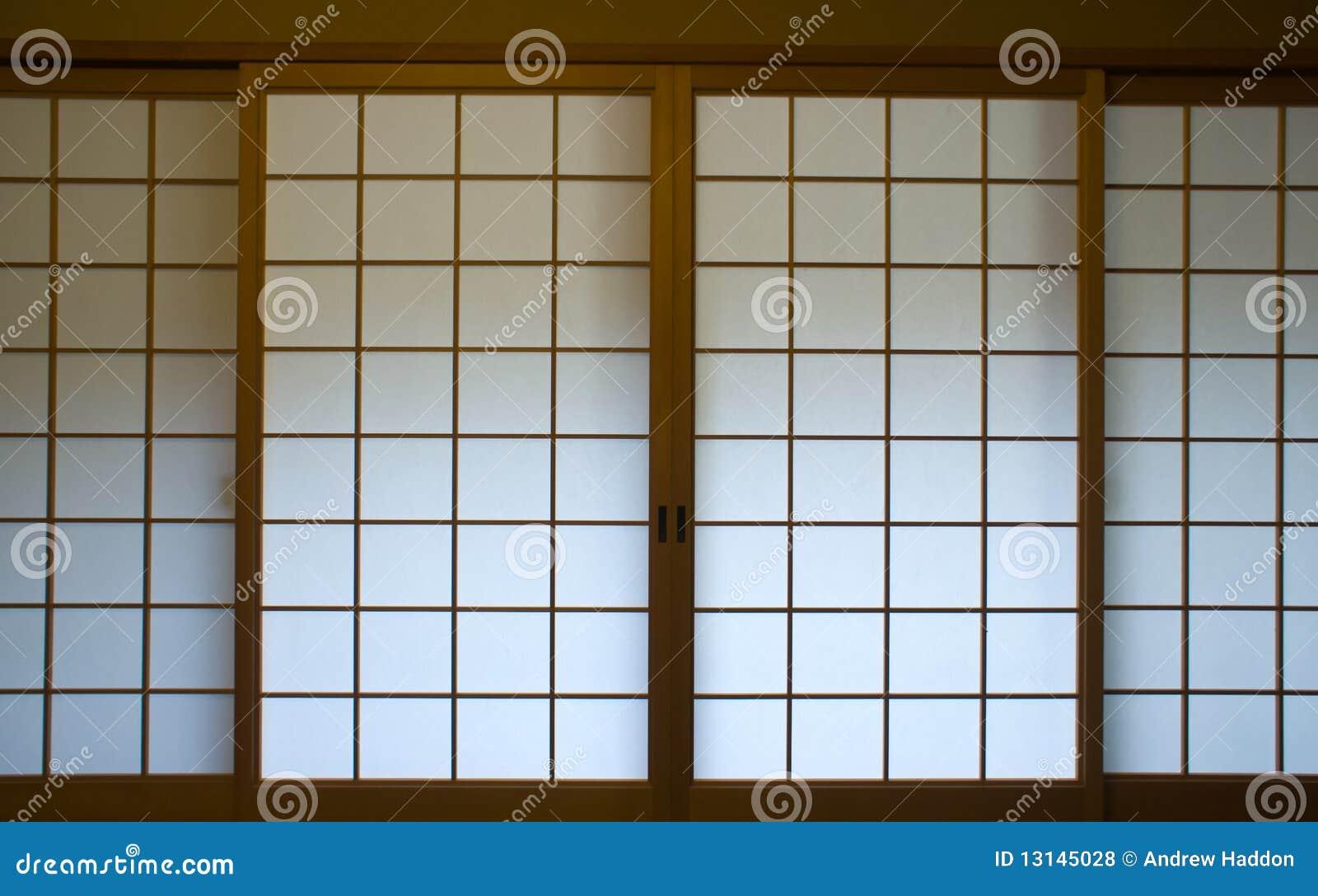 Japanese screen window royalty free stock photos image for Japanese window design